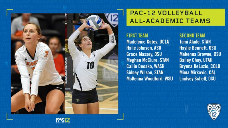 Pac 12 Announces Volleyball All Academic Honors Pac 12